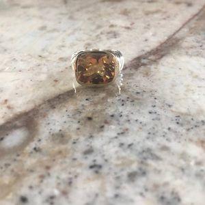 David yurman amber stone ring size 6
